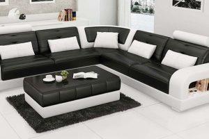 Sofa phòng khách bọc da đẹp
