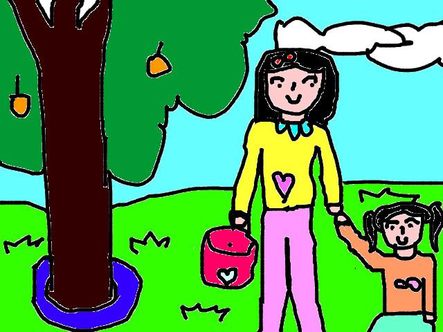 các bức tranh vẽ về đề tài mẹ của em